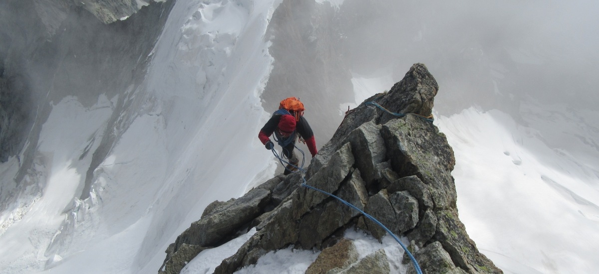 ..verso la vetta dell'Obergabelhorn - 4063 metri